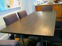 Modern dining table in solid Mahogany