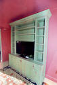 Distressed freestanding painted cabinet